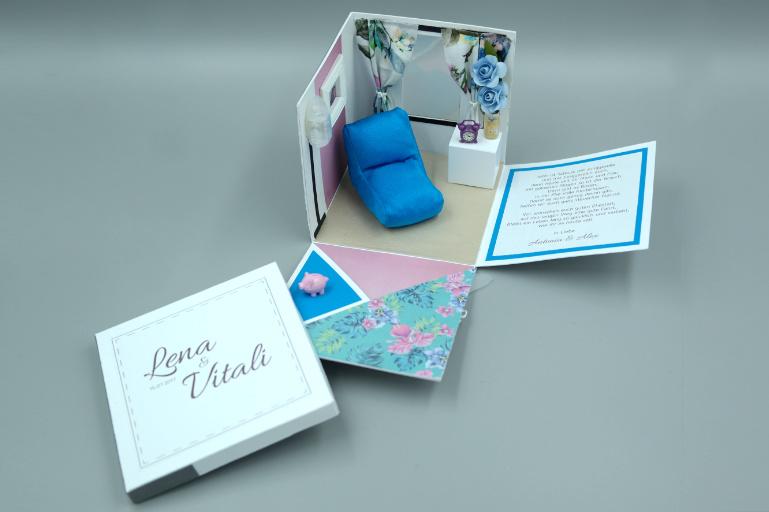 exploding box house 2 mini presents. Black Bedroom Furniture Sets. Home Design Ideas