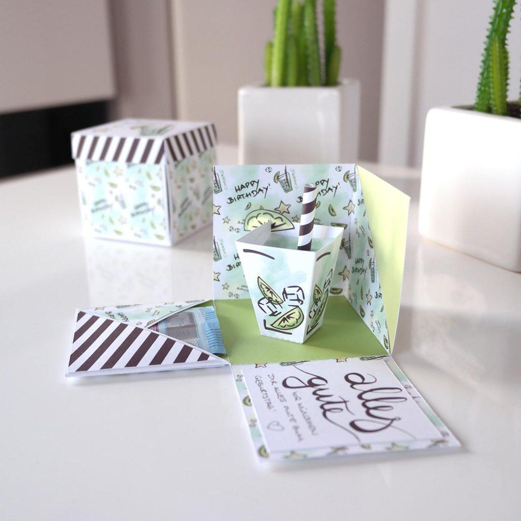 mini-presents-bastelanleitung-birthdaycocktail-explodingbox-geldgeschenk