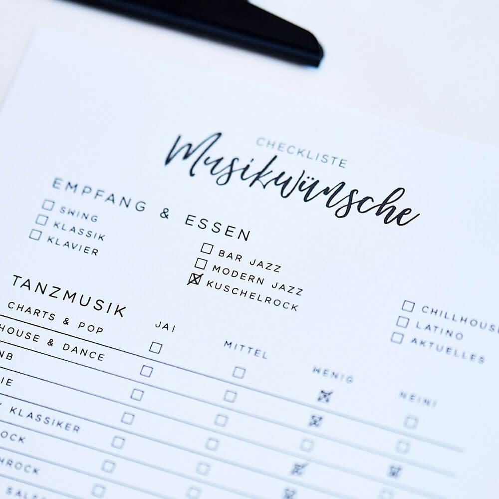 Hochzeit planen checkliste
