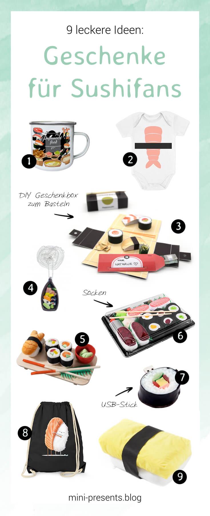 mini-presents geschenkideen für sushifans