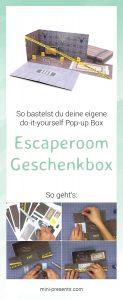 mini-presents Escaperoom Do-it-yourself Geschenk