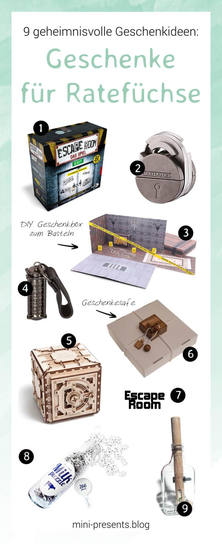 mini-presents Escaperoom Geschenkideen