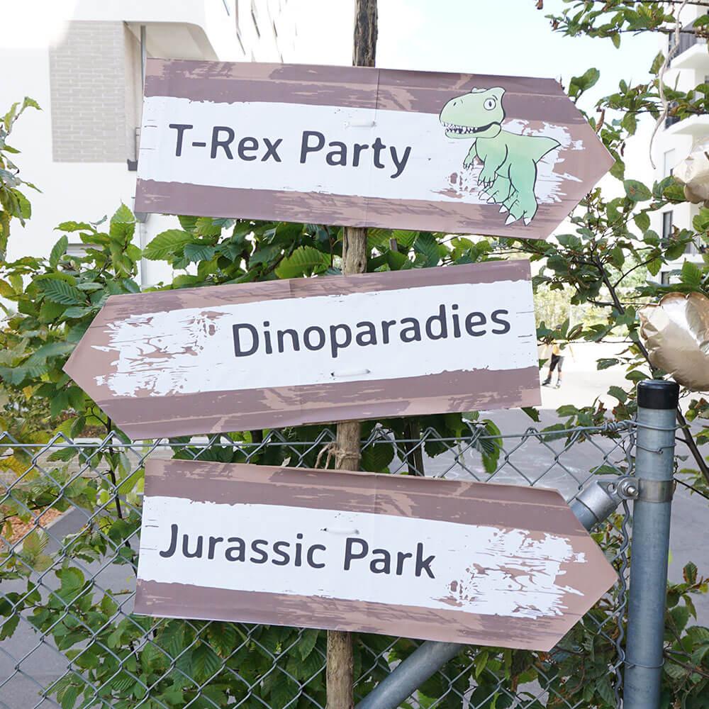 mini-presents Party Wegweiser Dino Party Deko