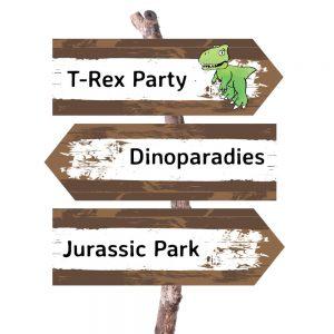 mini-presents Dino Party Deko Wegweiser