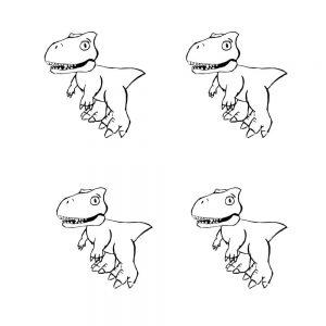 mini-presents Dino Party Deko Tassenvorlage