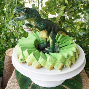 mini-presents Kuchen Dino Party Deko