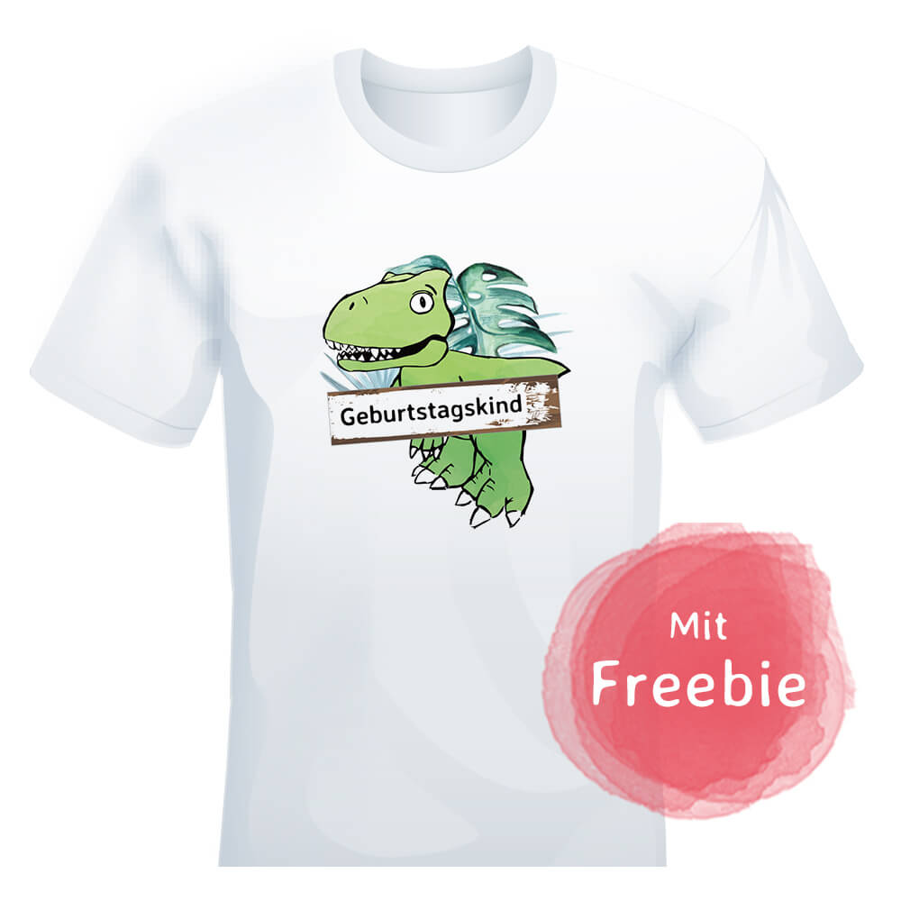 mini-presents Dino T-Shirt bedrucken Freebie