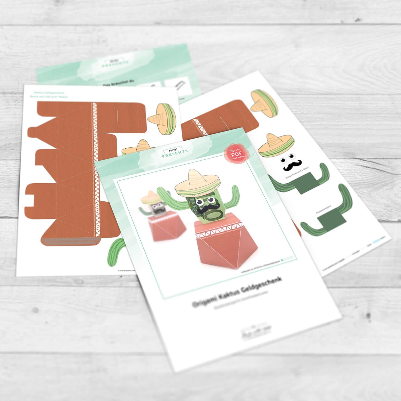 mini-presents Kaktus Geldgeschenk