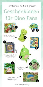 mini-presents Dino Geschenkideen zum Geburtstag