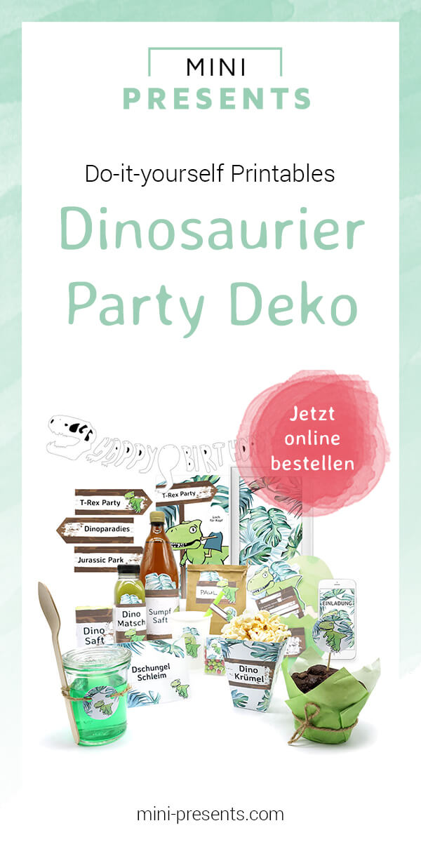mini-presents Dino Party Deko