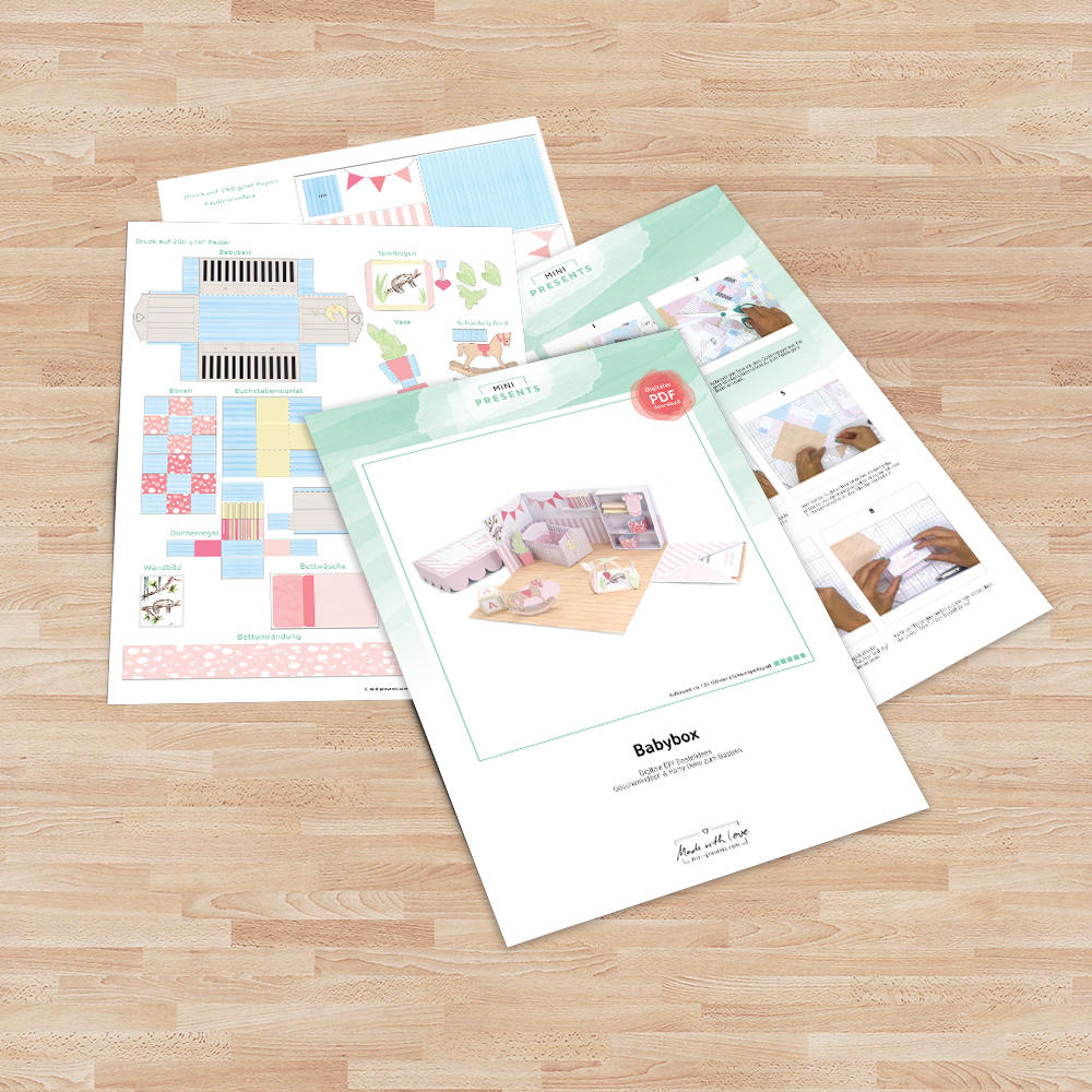 mini-presents DIY Geschenk zur Geburt
