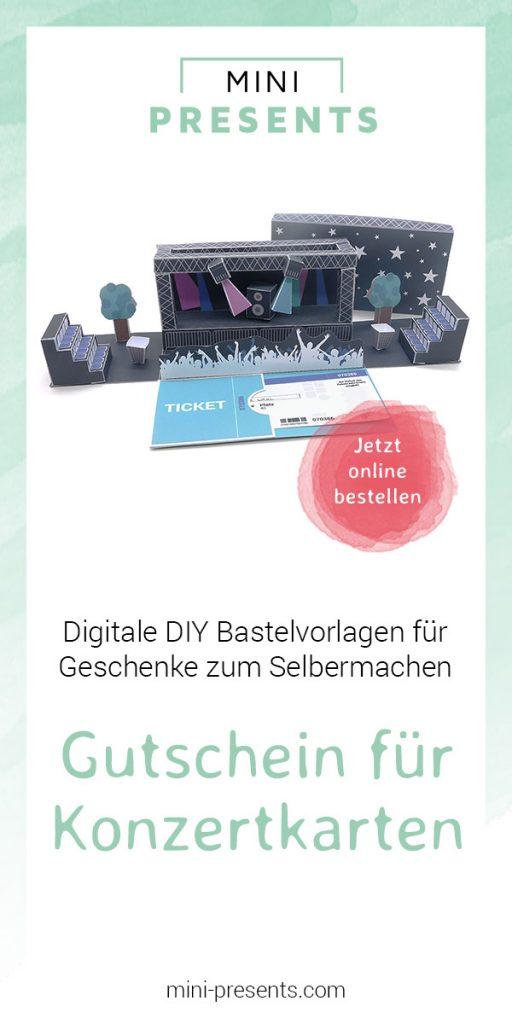 mini-presents DIY Geschenk Gutschein Konzert