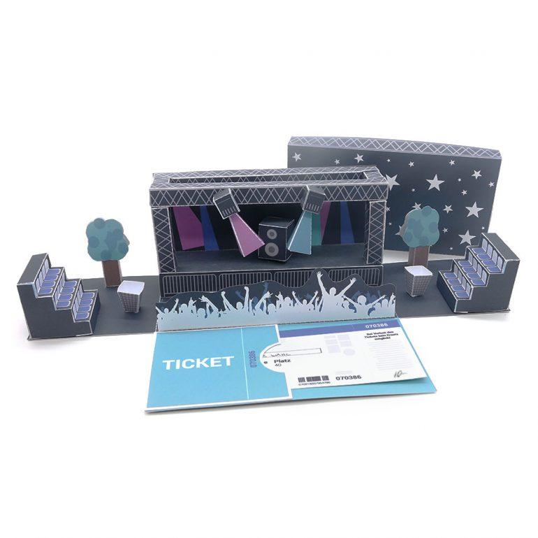 diy gutschein f r konzertkarten basteln mini presents. Black Bedroom Furniture Sets. Home Design Ideas