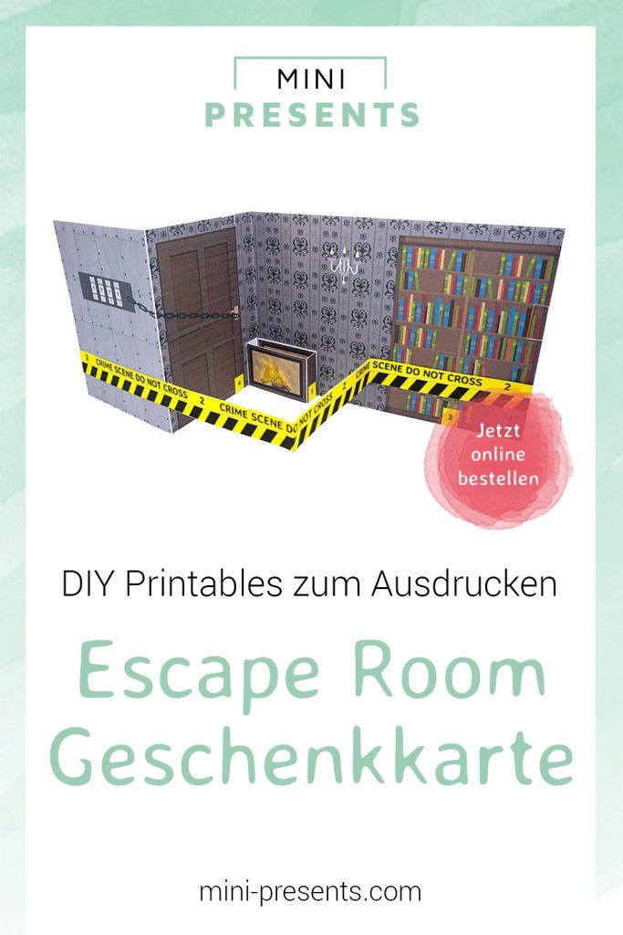 mini-presents Escape Room Gutschein Karte