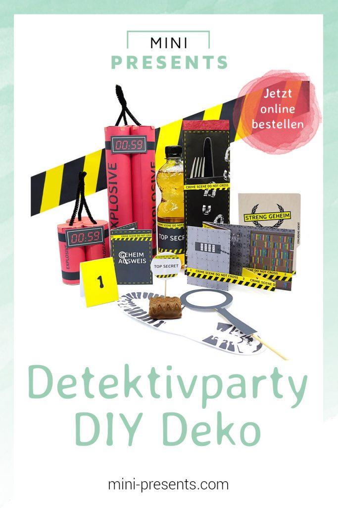mini-presents Detektivparty Deko