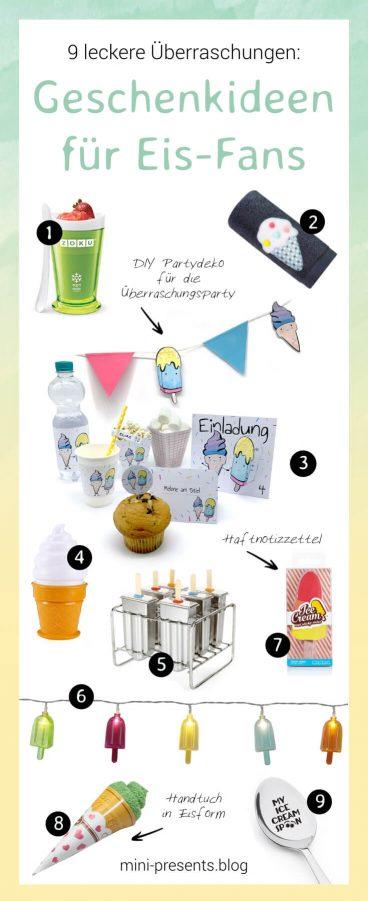 9 Geschenkideen für Eis Fans