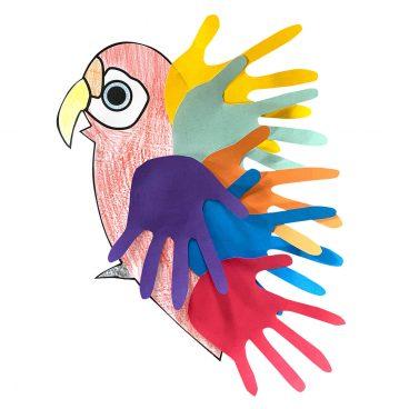 Papagei basteln