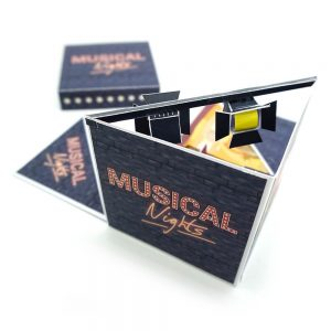 Musical Gutschein als Explosionsbox