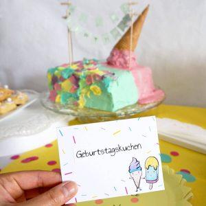 Eiscreme Torte Kindergeburtstag