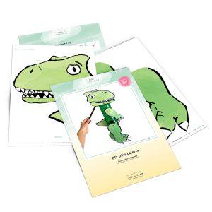 Dinosaurier Laterne kostenlose Bastelvorlage