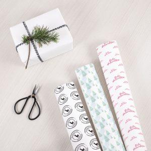 Weihnachtsgeschenkpapier zum Ausdrucken