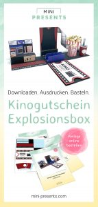 Bastelanleitung für einen Kinogutschein als Explosionsbox