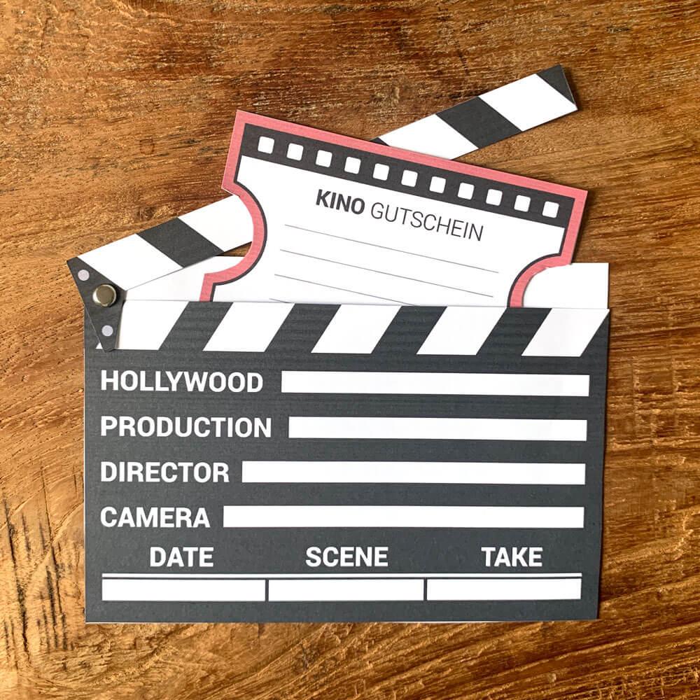 Kinogutschein Als Filmklappe Basteln Mini Presents Blog 2