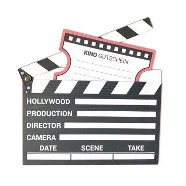 Kinogutschein als Filmklappe