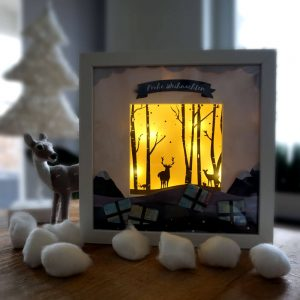 DIY Weihnachtsgeschenk im Bilderrahmen