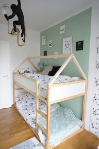 Kinderzimmer Einrichtung Hausbett IKEA KURA