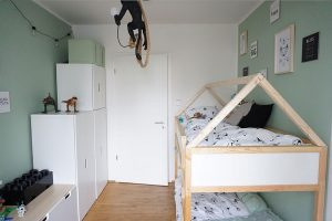 Kinderzimmer Einrichtung IKEA KURA Hausbett DIY