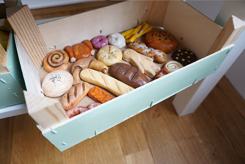 Kinderzimmer Einrichtung DIY Backwaren aus Salzteig