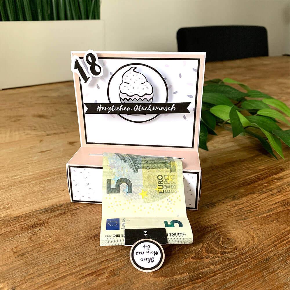 Gelddruckmaschine als Geburtstagsgeschenk