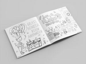 Malbuch für den guten Zweck zum Glücklichsein für Kinder