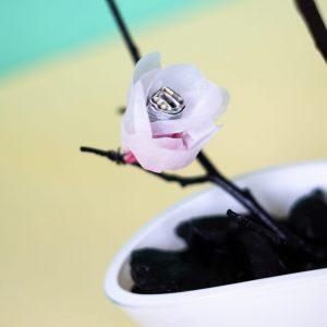 Papierblume Geldgeschenk zur Hochzeit