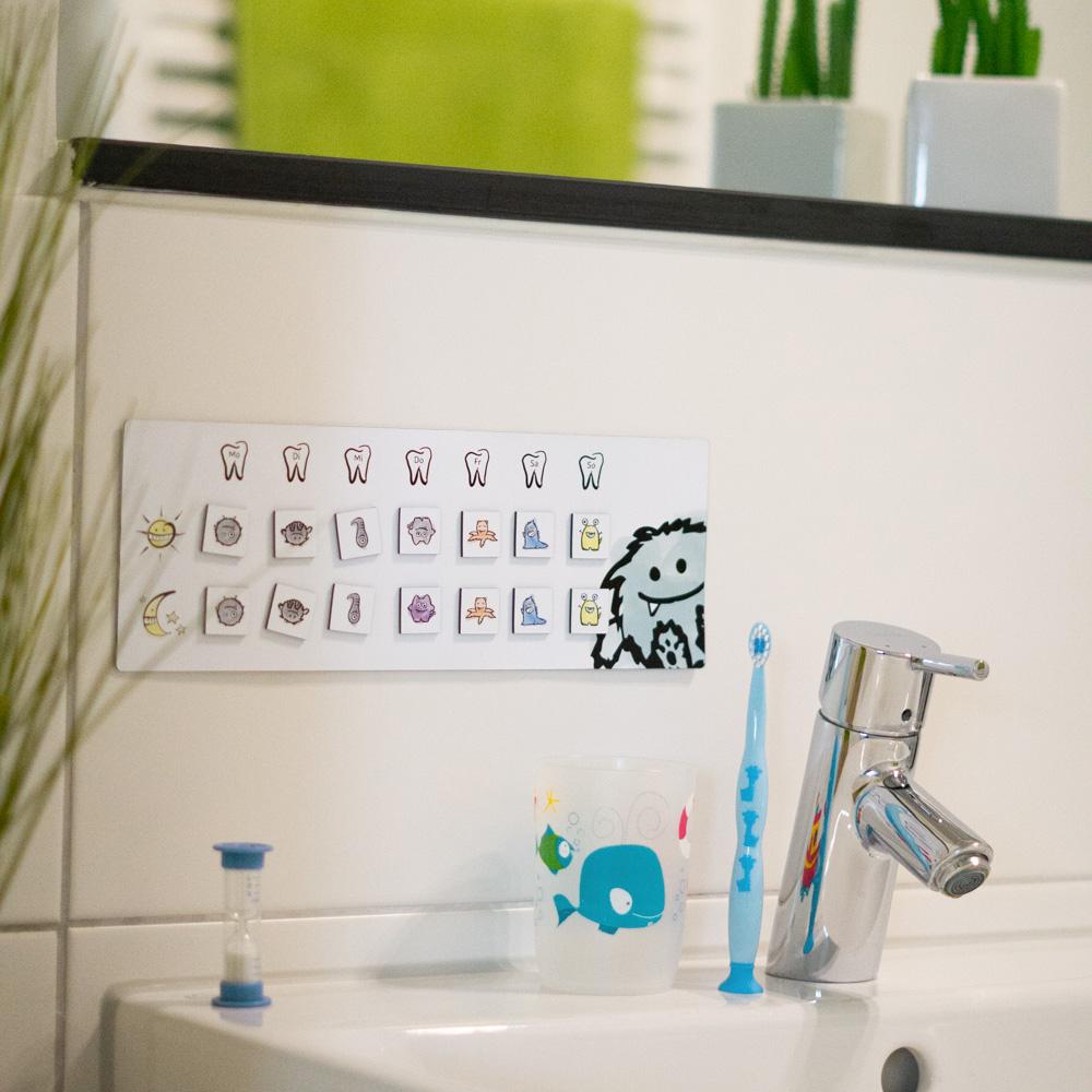 Zahnputzplan – Magnetisches Belohnungssystem zum Zähne putzen für Kinder