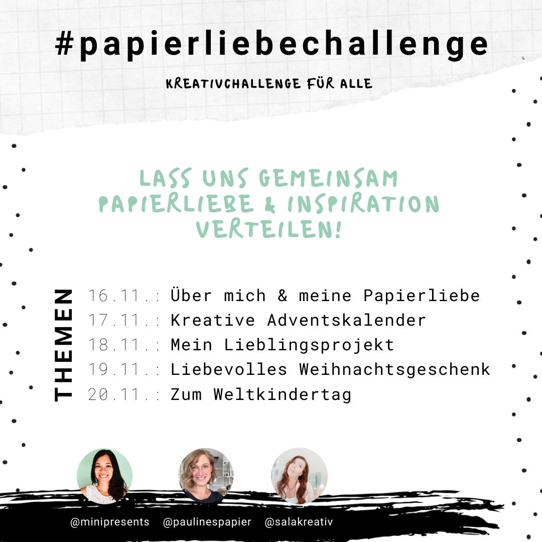 Instagram #papierliebechallenge