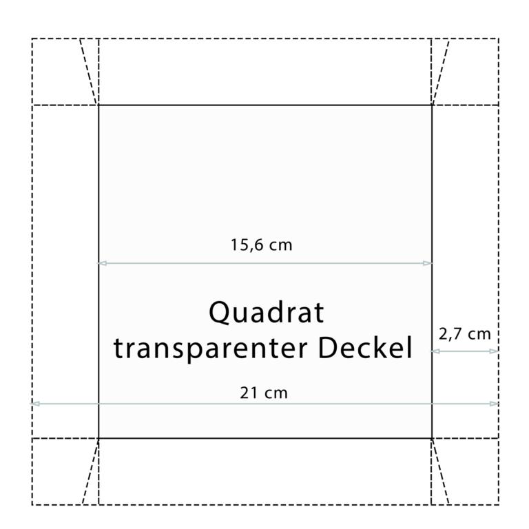 Bastelvorlage Schachtel Deckel
