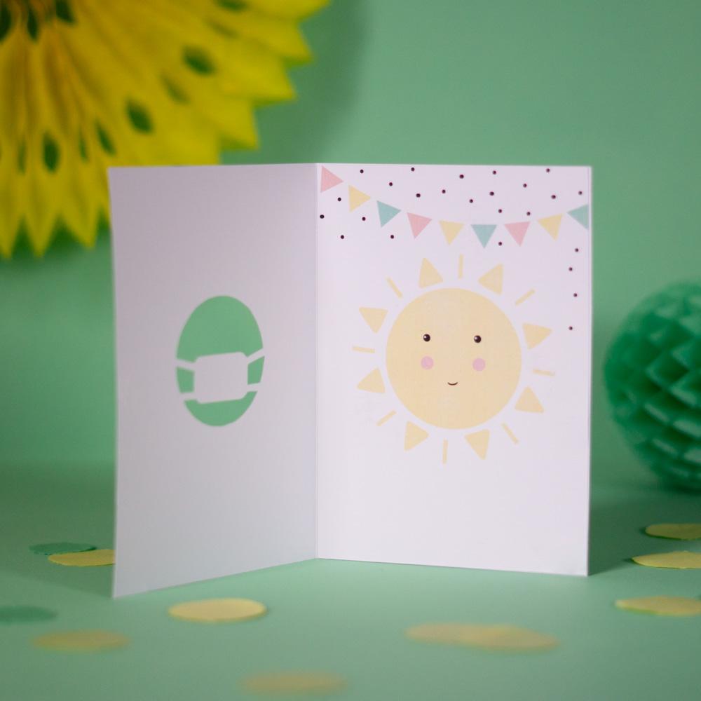Lustige DIY Corona Geburtstagskarte