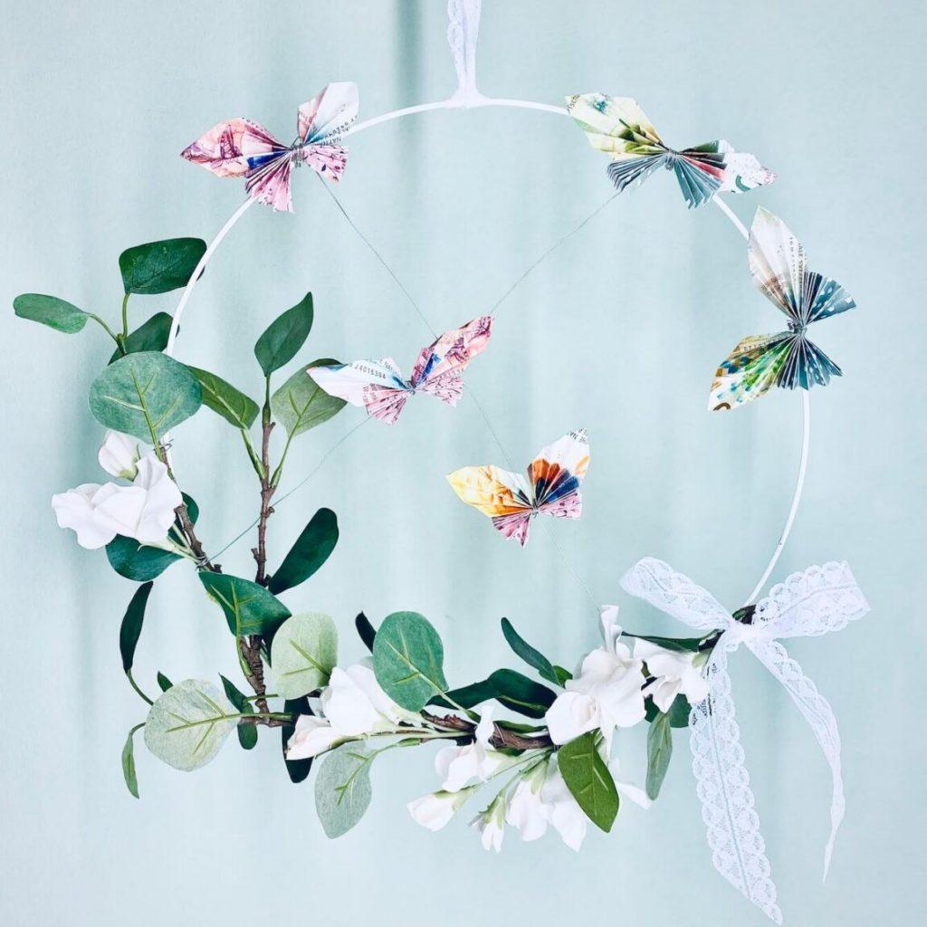 Geldgeschenk zur Hochzeit mit Schmetterlingen