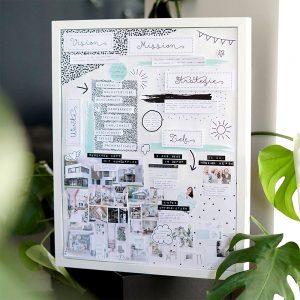 vision board mit vorlage erstellen