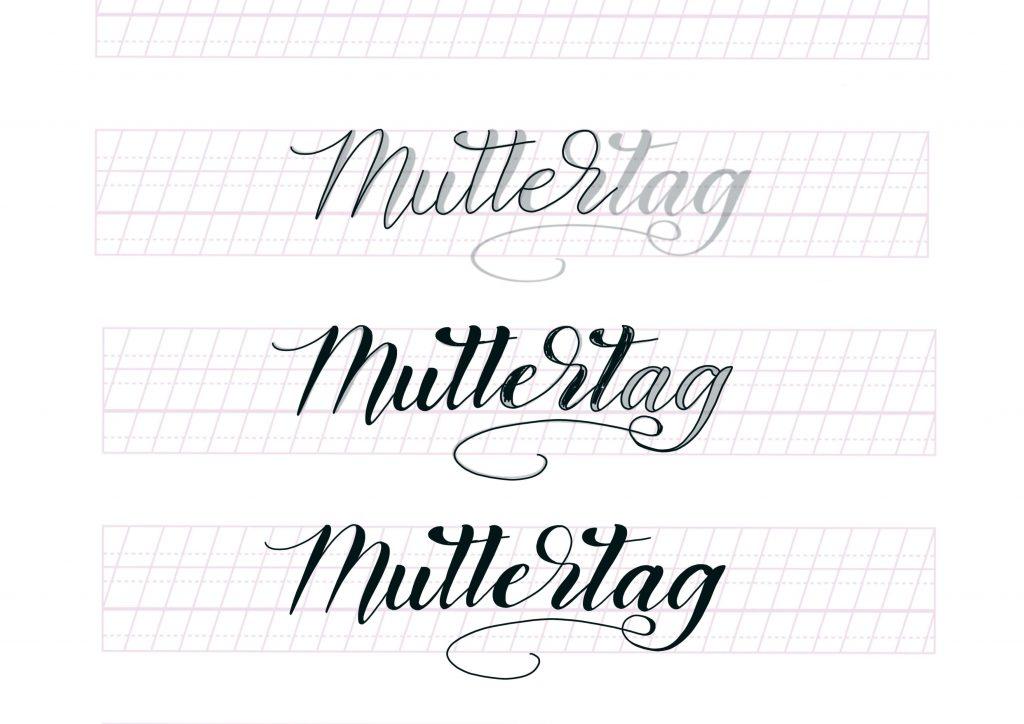 Handlettering Muttertag Schriftzug