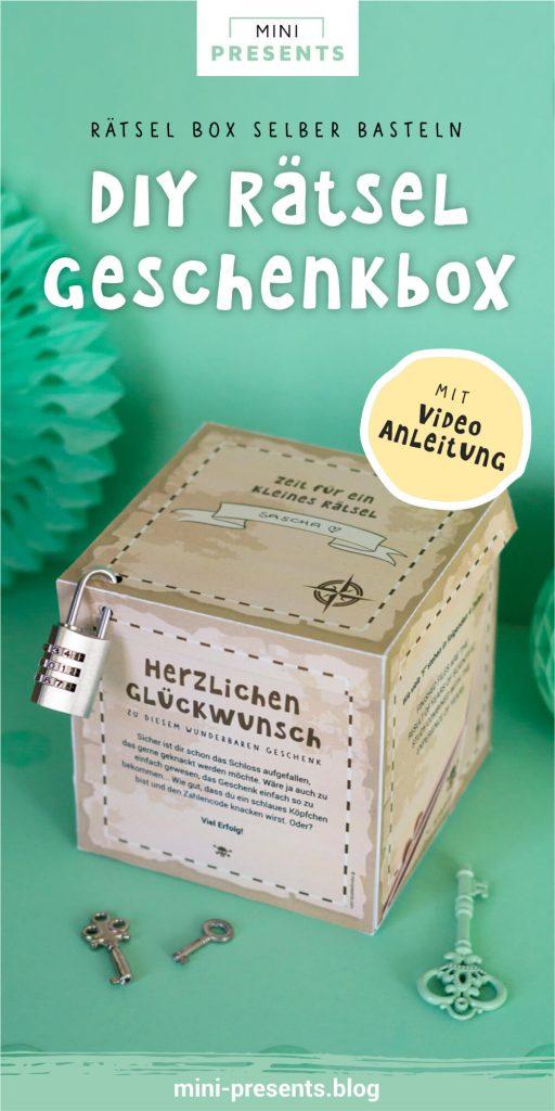 Rätsel Box als lustiges Geburtstagsgeschenk