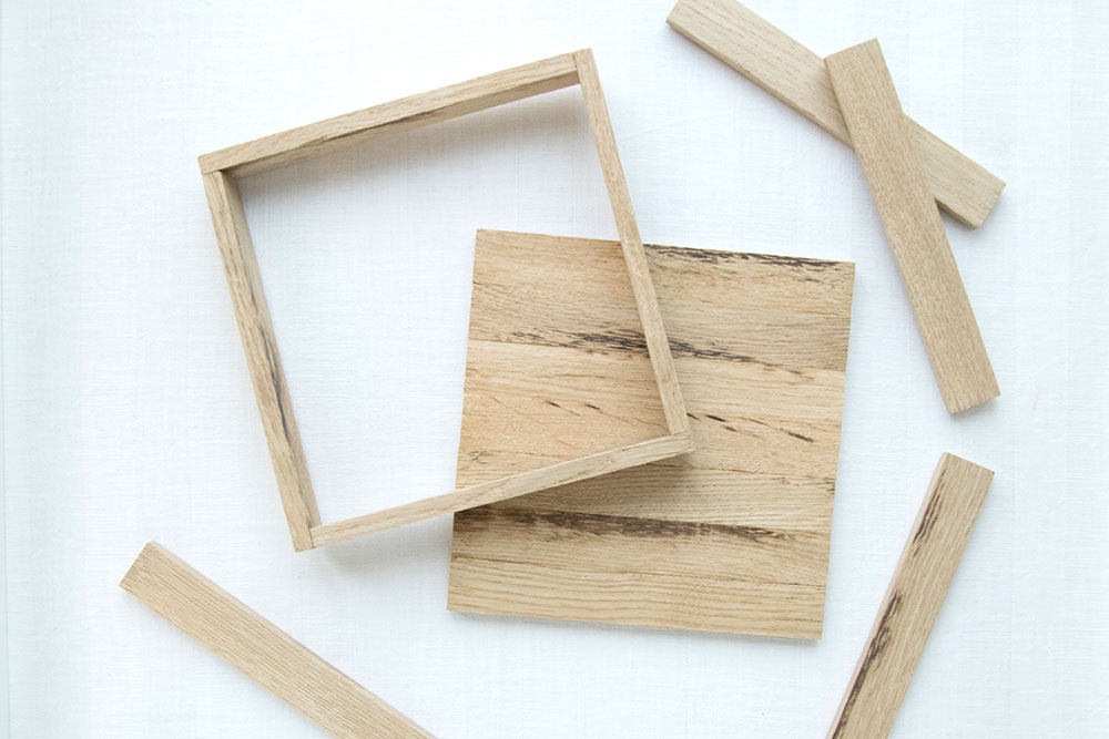 Holzrahmen aus Holzklötzchen basteln