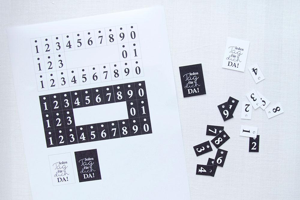 Zahlen für deinen Kalender Rahmen