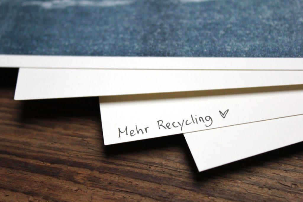Nachhaltiges Recyclingpapier und Kunst